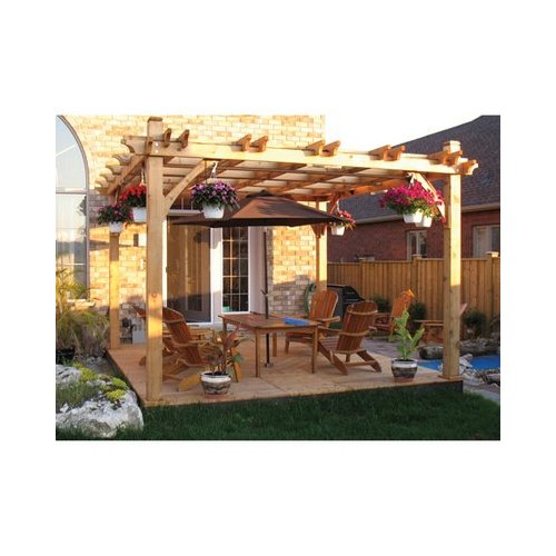 A Cedar Pergola on a Patio