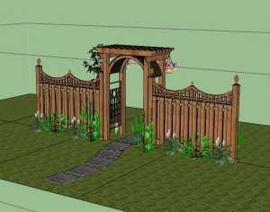 pergola design from 3d warehouse