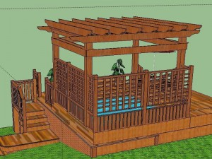 A Design for a Pergola over a Hot Tub Deck