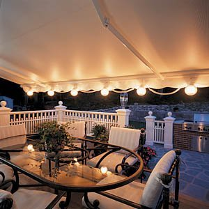 Lighted Retractable Awning